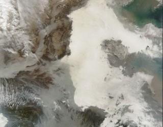 NASA发布中国雾霾天气卫星照 (5)